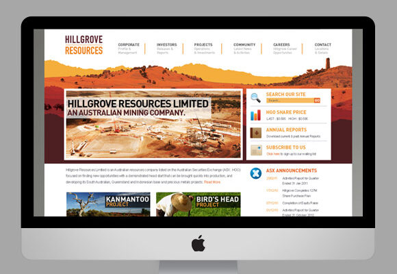 Hillgrove Resources Website
